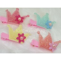 Glitter Crown Hair Clip