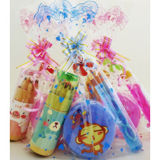 Roller Colour Pencils with Bubbles and Compressible Cup Pack