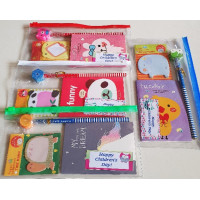 Notebook Notepad Pencil Zip Case Set