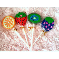 Lollipop Fruit Erasers
