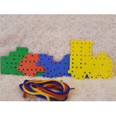 Threading/Lacing Board - Montessori Toy