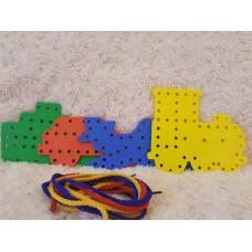 Threading/Lacing Board - Montessori Toy