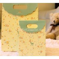 Yellow Deer Paper Gift Bag