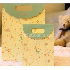 Yellow Deer Paper Gift Bag
