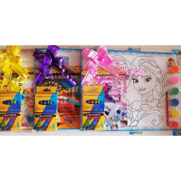 Big Poster Colour Art & Colouring Book Set