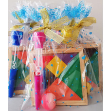 Tangram Bouncy Ball Bubble Stamp Pen Set