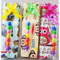 Pencil Case with Smiley Pencil Pack