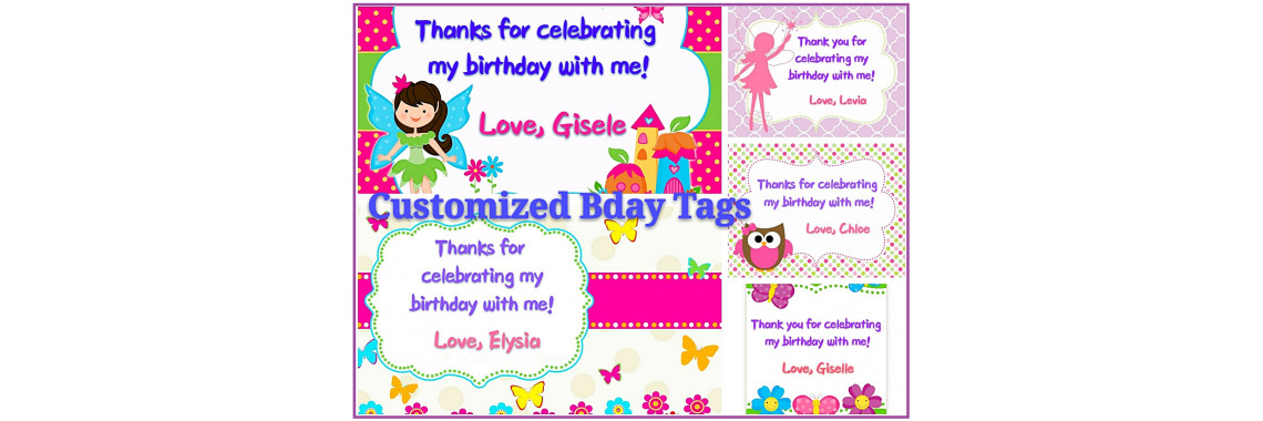 Girls Birthday Tag