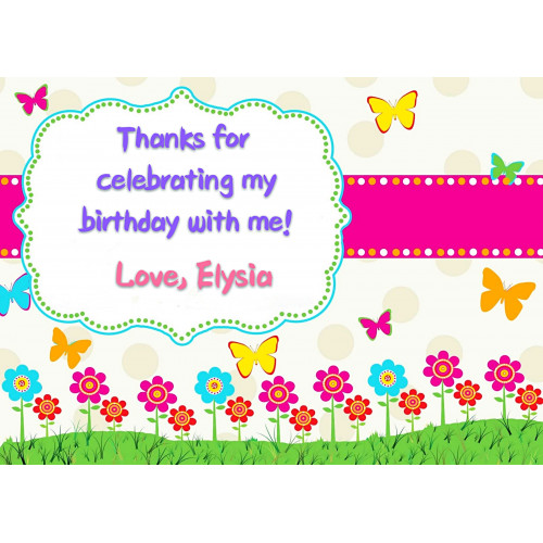 Customized Coloured Birthday Name Tags