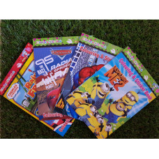 Cartoon Colouring and Sticker Book